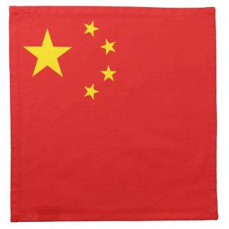 中国の旗のナプキン ナプキンクロス