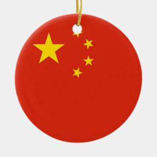 中国の旗を持つオーナメント セラミックオーナメント