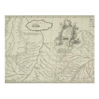 中国の旧式な地図 ポストカード