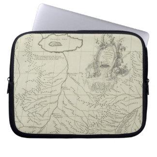 中国の旧式な地図 ラップトップスリーブ