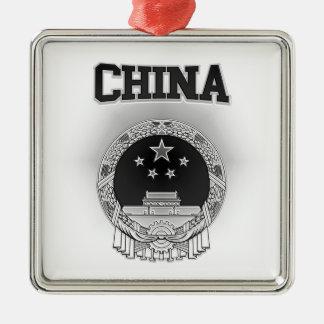中国の紋章付き外衣 メタルオーナメント