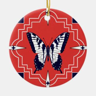 中国の蝶 セラミックオーナメント