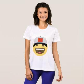 中国のEmojiの野球帽 Tシャツ
