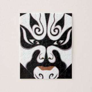 中国人の京劇の中国の日本日本人のマスク ジグソーパズル