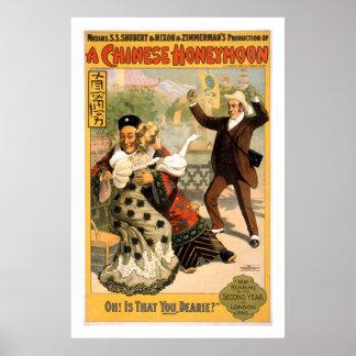 中国人の新婚旅行のヴィンテージの劇場ポスター ポスター