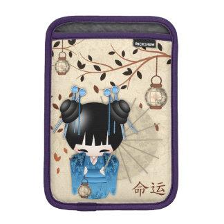 中国人のKokeshiの人形は書道運命を言います iPad Miniスリーブ