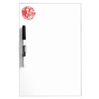 中国人のPapercutのオンドリ年乾燥したEの板 ホワイトボード