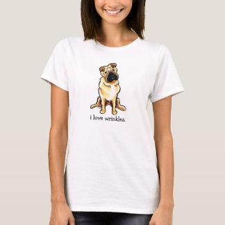 中国人のShar Peiの以外鎖のArt™愛しわ Tシャツ