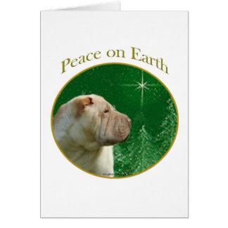中国人のShar-Peiの平和 カード