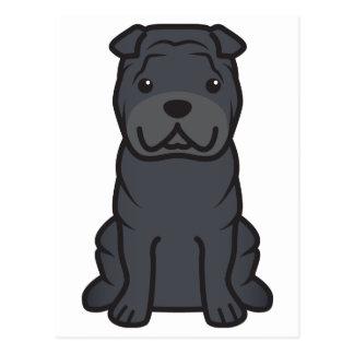 中国人のShar-Pei犬の漫画 ポストカード