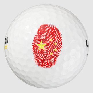 中国人のtouchの指紋の旗 ゴルフボール