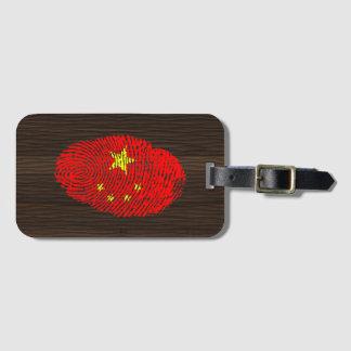 中国人のtouchの指紋の旗 ラゲッジタグ