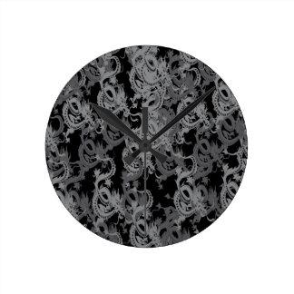中国人のYingヤンのドラゴン ラウンド壁時計