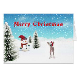 中国語によって頂点に達されるクリスマスカード カード