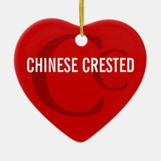 中国語によって頂点に達される品種モノグラム セラミックオーナメント
