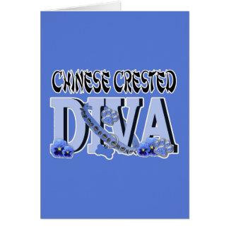 中国語によって頂点に達される花型女性歌手 カード
