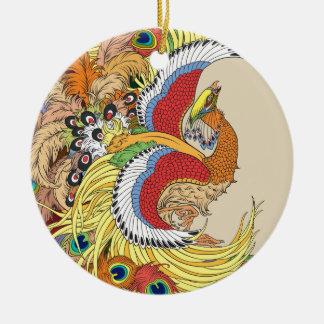 中国語フェニックス セラミックオーナメント