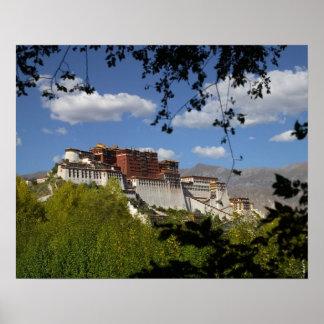 中国、チベット、ラサ、ポタラ宮 ポスター