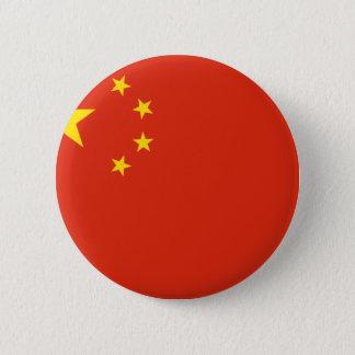 中国; 中国のな旗 5.7CM 丸型バッジ
