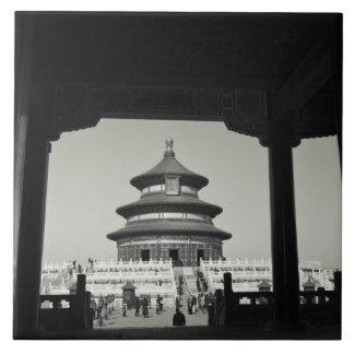 中国、北京のChongwen地区。 2の寺院 タイル
