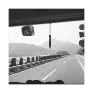 中国-白黒写真の遠征 キャンバスプリント