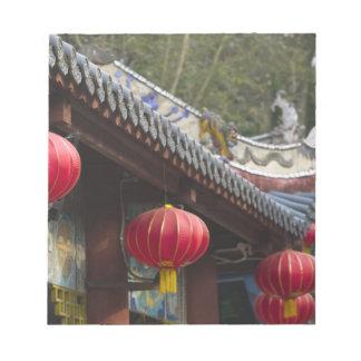 中国、重慶の地域、Fengdu。 Fengduの幽霊 ノートパッド