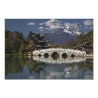 中国、雲南省、Lijiang。 古いLijiang フォトプリント