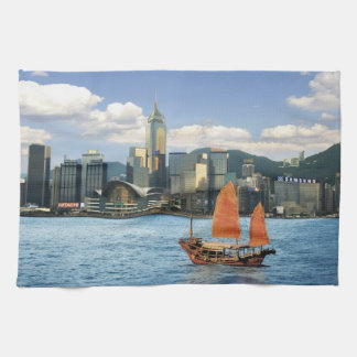 中国; 香港; ビクトリア港; 港; A キッチンタオル