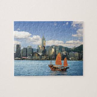 中国; 香港; ビクトリア港; 港; A ジグソーパズル