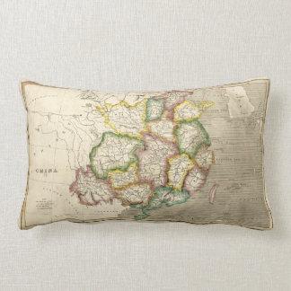 中国(1830年)の古い地図 ランバークッション