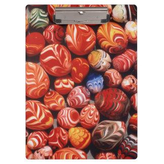中国、Mingの墓、色彩の鮮やかなガラス記念品 クリップボード