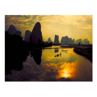 中国mountain湖のエキゾチックな景色 ポストカード