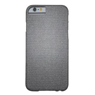 中型の灰色のデニムの質のiPhoneの箱 Barely There iPhone 6 ケース