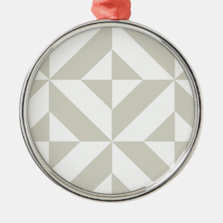 中型の灰色の幾何学的なDecoの立方体パターン メタルオーナメント