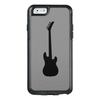 中型の灰色の近代音楽のブラックバスのギター オッターボックスiPhone 6/6Sケース