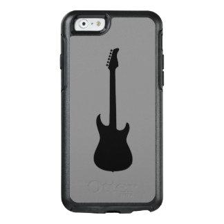 中型の灰色の近代音楽の黒のエレキギター オッターボックスiPhone 6/6Sケース