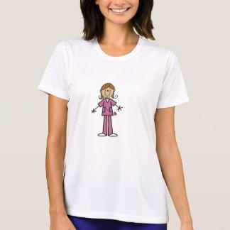 中型の皮の棒の姿のメスのナース Tシャツ