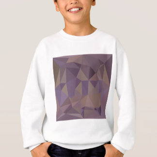 中型の紫色の抽象芸術の低い多角形の背景 スウェットシャツ