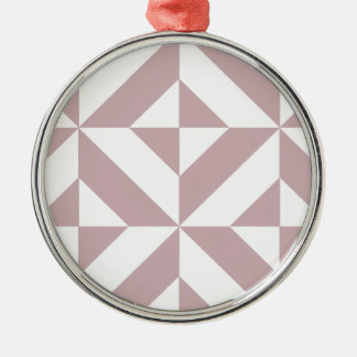 中型の藤色の幾何学的なDecoの立方体パターン メタルオーナメント