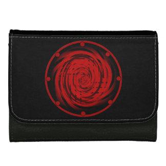 中型の革財布のブラックホールの渦巻