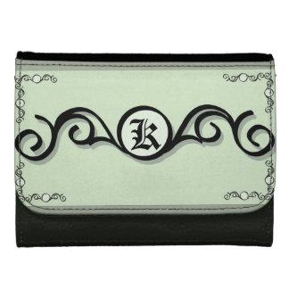 中型の革財布のIRONWORK SCROLLWORK 1