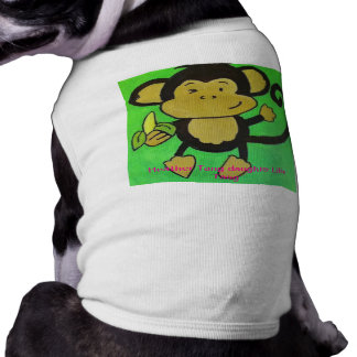 中型犬のための猿のワイシャツ ペット服