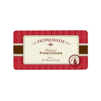中型Pineconeの手製のラベル ラベル