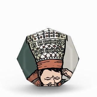 中央アジアに女性の考えること(帽子で) 表彰盾