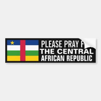 中央アフリカのために祈って下さい バンパーステッカー