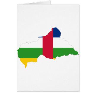 中央アフリカの旗の地図のCF カード