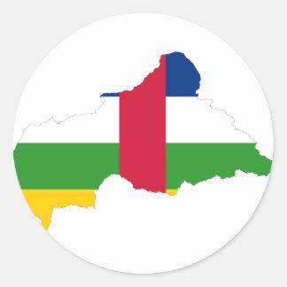 中央アフリカの旗の地図のCF ラウンドシール