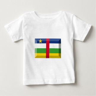 中央アフリカの旗の宝石 ベビーTシャツ