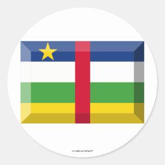 中央アフリカの旗の宝石 ラウンドシール