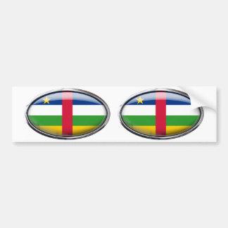 中央アフリカの旗の楕円形 バンパーステッカー